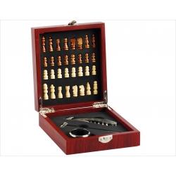 Mini zestaw do wina z szachami